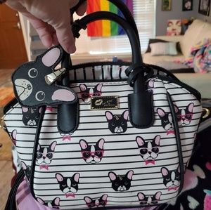 BETSEY JOHNSON bag. Boston Terrier Unicorn!